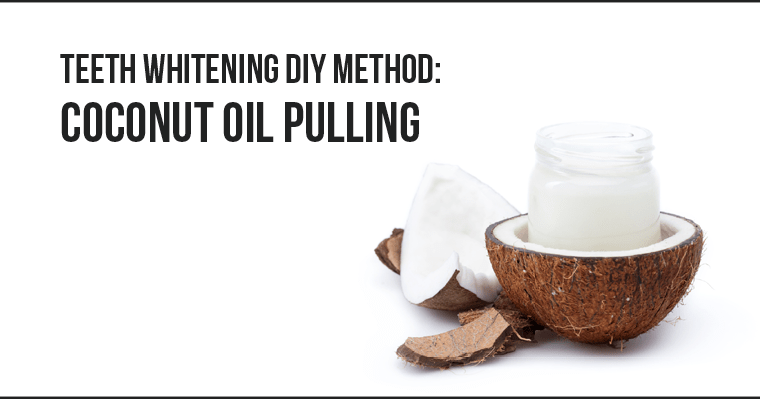 Can coconut oil pulling be used as a teeth whitening DIY method?