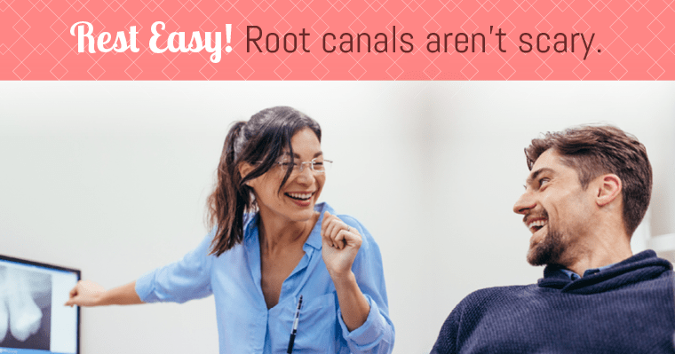 Many are surprised to learn that a root canal causes no more pain than a common filling would.